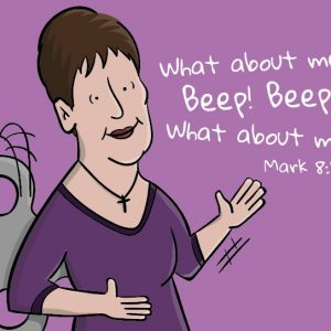 Joyce Meyer Robot Cartoon