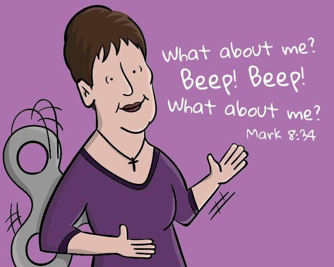 Joyce Meyer Robot Cartoon